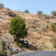 Le chemin pavé du Manery, hauts de Grande Fontaine.