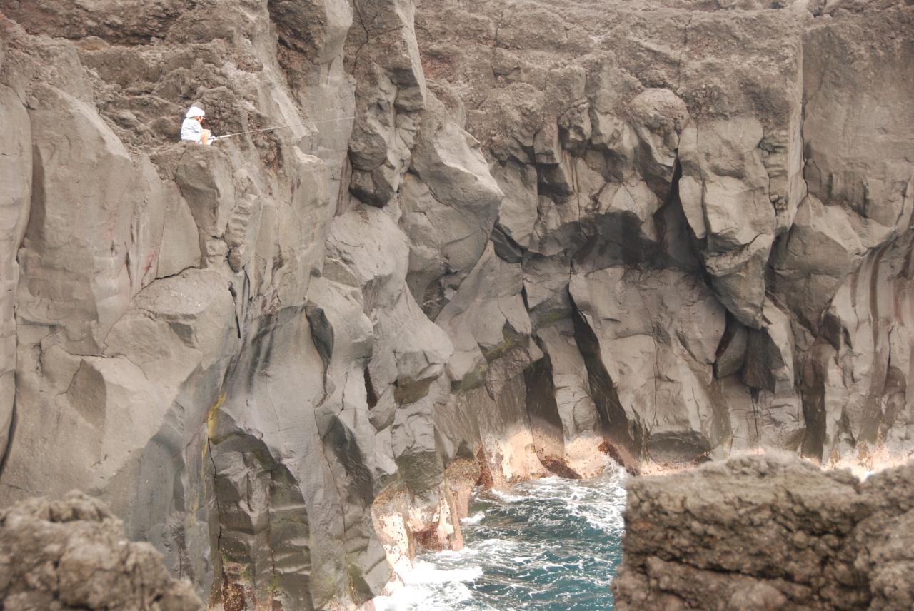 Coulées de basalte au gouffre D Helsens