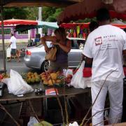 Marché de St Paul fruits.