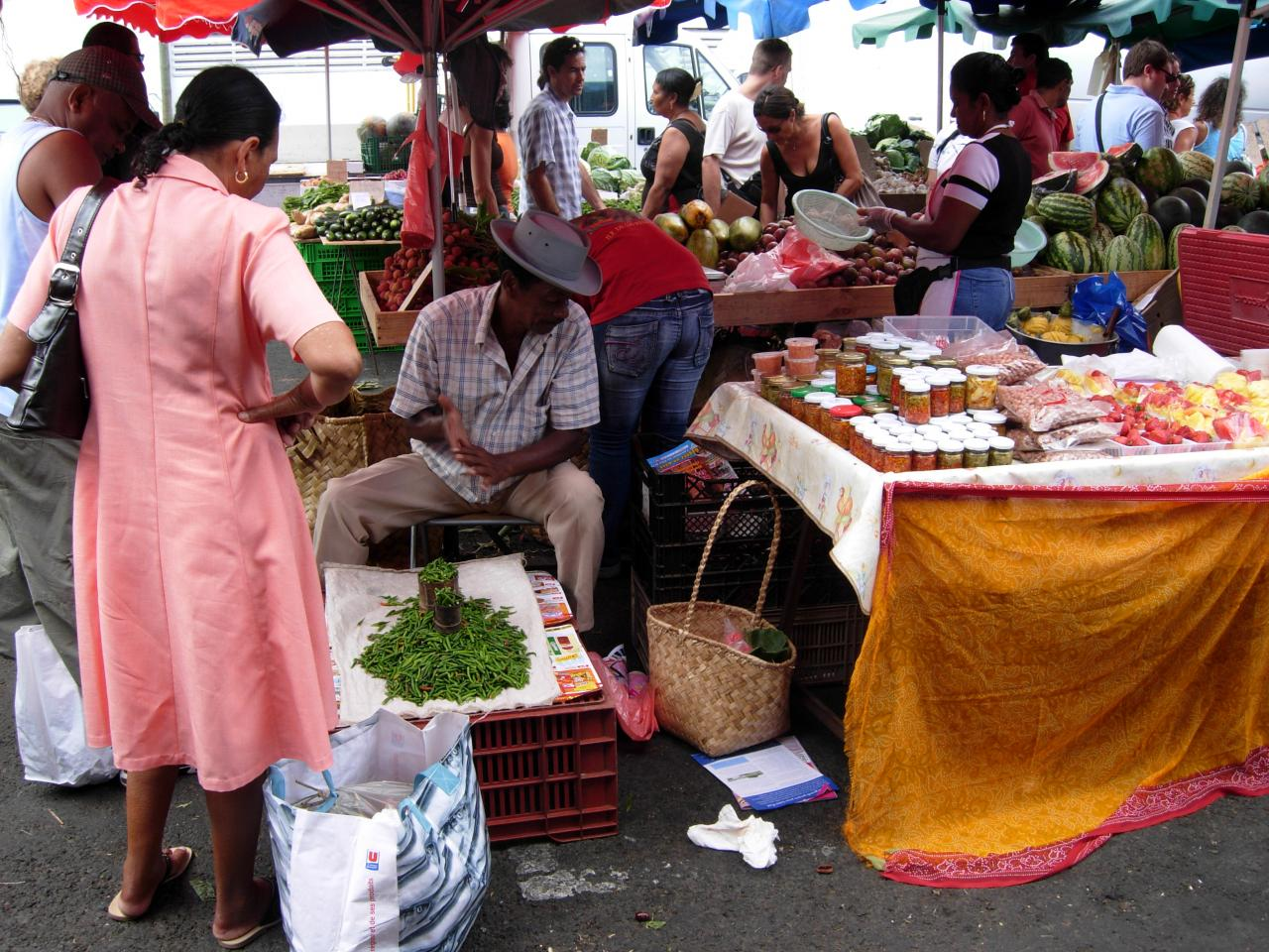 Marché de St Paul piments