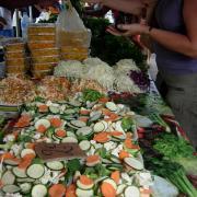 Marché de St Paul légumes pour shop sui.